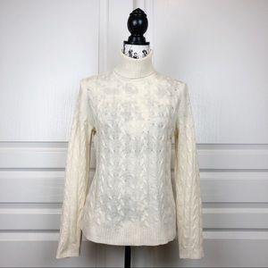 WHITE + WARREN Cashmere Cable Knit Turtleneck